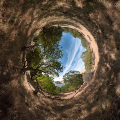 P1030253 Panorama-2 (scloopy) Tags: park panorama lake spherical delvalle stereographic
