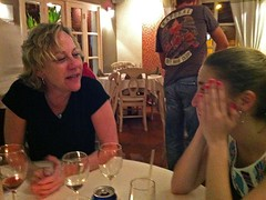 Elbows on the Table (AntyDiluvian) Tags: beach night island restaurant saintmartin boulevard lisa bistro stmartin tropical meredith caribbean sxm owner sintmaarten grandcase orientbeach frenchwestindies fwi thibeault frenchside boulevarddegrandcase bistrotcaraibes