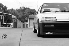 Mean Muggin' (Casey Hardman) Tags: honda low wheels poke civic mean hatch flush 90 ef offset konig gsr illest