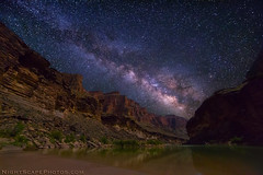 "Milky Way spanning over Grand Canyon and Colorado River (IronRodArt - Royce Bair (""Star Shooter"")) Tags: nightphotography sky night stars evening nightscape grandcanyon timeexposure coloradoriver moonlight wilderness heavens universe starlight grandcanyonnationalpark wondersofnature"