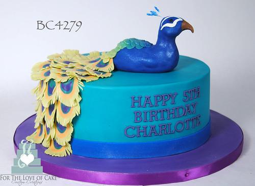 Stupendous Bc4279 Peacock Birthday Cake Toronto Oakville A Photo On Flickriver Personalised Birthday Cards Veneteletsinfo