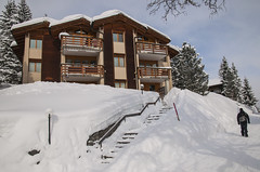 Swiss House (webeagle12) Tags: mountain snow mountains alps switzerland europe village swiss valley berne eiger bernese jungfrau monch berneseoberland oberland murren susse nikond90 1685mm