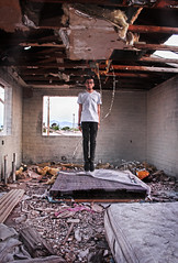 44/365 (Mr.Raconteur) Tags: old roof arizona portrait sunlight house mountains abandoned nature self vintage emotion floating levitation future past 365dayproject