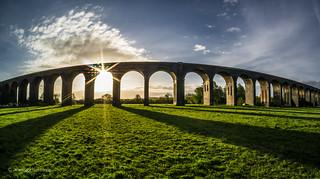 Harringworth Viaduct fish-eye