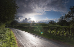 Edingley (djshoo) Tags: england sky rain clouds landscape countryside colours flare nottinghamshire wideanglelens d90 sigma1020 leefilters nikond90 leepolariser