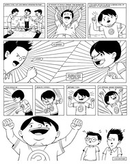 Page 22 (Joshua Kemble) Tags: blackandwhite cute playground manga excited comix page comicbook graphicnovel faceoff webcomic autobiographical autobio twostories joshkemble joshuakemble actionlines polynothing quarterlystories quarterlystoriescom snowymountainfactory