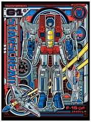 Starscream (1SHTAR) Tags: print poster logo design gallery graphic transformers g1 illo megatron starscream acidfree