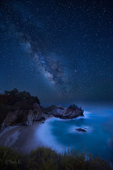 Night Night (Yan Photography) Tags: california statepark nightphotography sky fall night stars landscape star waterfall cove bigsur highway1 galaxy celestial milkyway juliapfeifferburnsstatepark mcwayfalls mcway cabrillohighway
