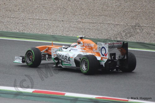 Adrian Sutil in his Force India in Free Practice 1 at the 2013 Spanish Grand Prix