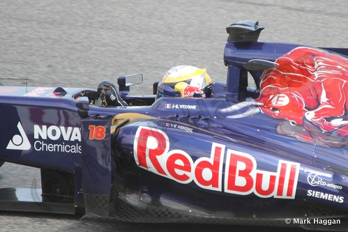 Jean-Eric Vernge in Free Practice 2 at the 2013 Spanish Grand Prix
