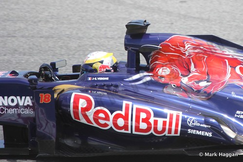Jean-Eric Vergne in Free Practice 2 at the 2013 Spanish Grand Prix