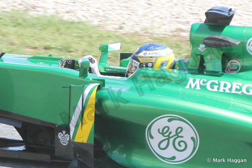 Charles Pic in Free Practice 2 at the 2013 Spanish Grand Prix