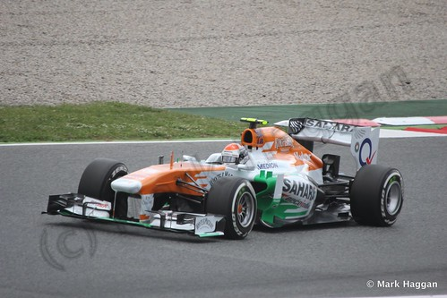 Adrian Sutil in Free Practice 3 for the 2013 Spanish Grand Prix