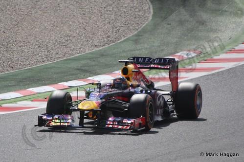 Sebastian Vettel in Free Practice 3 for the 2013 Spanish Grand Prix