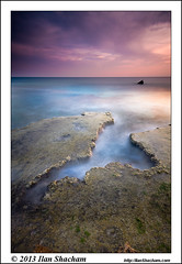 The Groove 2 (Ilan Shacham) Tags: ocean longexposure sunset sea seascape beach water beauty rock vertical clouds landscape coast israel fantastic mediterranean dusk infinity fineart scenic shipwreck fantasy le groove hull dor chasm endless habonim fineartphotography