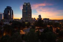 Cesar Chavez Park (boingyman.) Tags: california sunset building skyline architecture cityscape parking sac structure sacramento scape cesarchavezpark boingyman