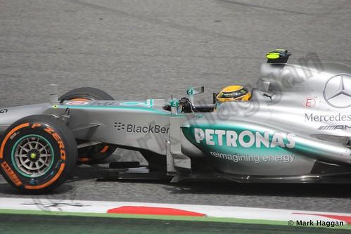 Lewis Hamilton in Free Practice 2 at the 2013 Spanish Grand Prix