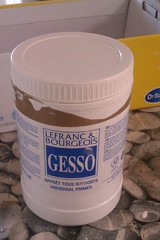 This is what a big pot of gesso looks like : Universal white primer (the gesso project) (TeaButterfly) Tags: gesso thegessoproject