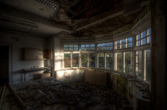 Bathed (DanRSmith) Tags: morning light shadow urban sun window dark decay grunge grime