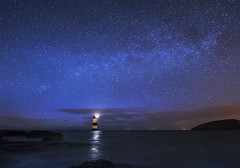 'The Night-Watch' - Black Point, Anglesey (Kristofer Williams) Tags: sky lighthouse seascape wales night stars landscape astrophotography blackpoint milkyway anglesey penmon lighthousetrek