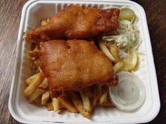 Fish and Chips (knightbefore_99) Tags: street food fish hot vancouver truck lemon bc sauce salmon deep fast chips fries cod fried eastvan halibut truckfood