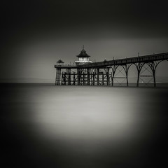 Clevedon pier (MartynHall ) Tags: england white black west color sepia silver dark square coast pier big long exposure 10 south north somerset stop filter crop ten density clevedon stopper neutral efex eyegarbage martynhall