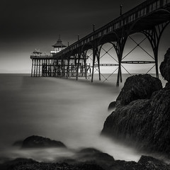 Clevedon Pier (MartynHall ) Tags: england bw white black west sepia dark square mono pier big long exposure 10 south north somerset stop filter lee crop ten density clevedon stopper neutral eyegarbage martynhall