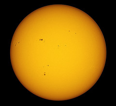 Today's Sun  15-05-13 (James Lennie) Tags: sun stars photography star solar olympus astro devon astrophotography astronomy daytime stacking dslr sunspot solarsystem sunspots northdevon refractor registax ed80 pipp primefocus skywatcher solardisk solarphotography e410 baadersolarfilm