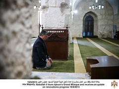(Royal Hashemite Court) Tags: king progress grand mosque his renovations update tours majesty abdullah  receives