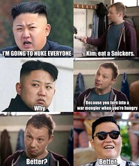 kim jong un eats a Snickers (The Drewness) Tags: candy snickers psy northkorea kimjungun
