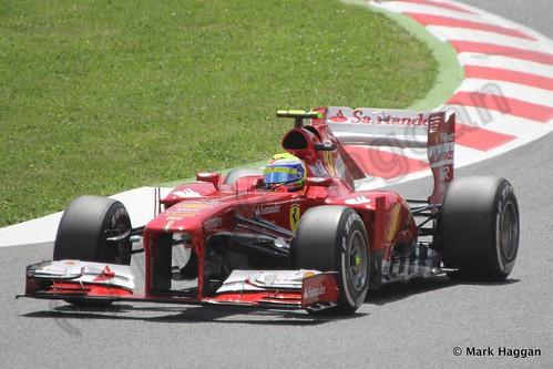 Felipe Massa in the 2013 Spanish Grand Prix