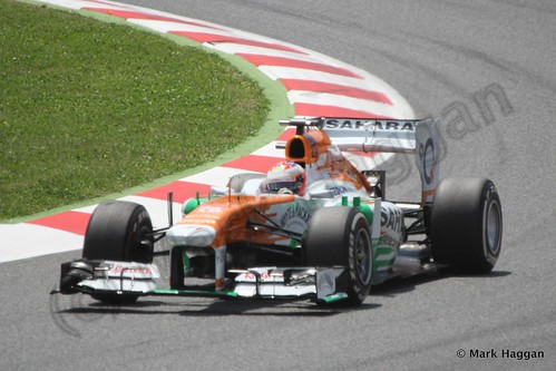 Paul Di Resta in the 2013 Spanish Grand Prix
