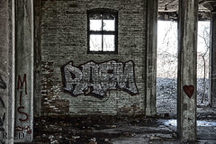 Photographing the Abandoned Hales Hunter Red Rooster Red Comb feed Factory - Urbexing Chicagoland (RickDrew) Tags: old urban building rot abandoned industry rock stone graffiti rust iron peeling paint grafitti grafiti decay steel tag failure pillar columns ruin spray vandal vandalism oxidation bloom hunter rusting column decomposition pillars exploration tagging decline economy dilapidation corrosion blight decadence consumption crumbling supports oxydation fallingapart urbex bankrupt deterioration degeneration hales atrophy disintegration failing decrepitude ruination caries depreciation decrease feedfactory degeneracy redcomb