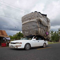 Only in Cambodia (DarrenWilch) Tags: car big crazy load overloaded onlyincambodia