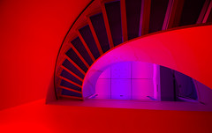 stairs (slavicphotos) Tags: red purple stairwell