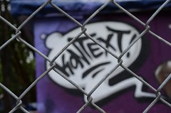 Kontext | context (rainbowcave) Tags: urban art fence real graffiti nikon wiesbaden graffito zaun zentrum sprayer maschendraht kontext welfenstrase d7000 nettingwire