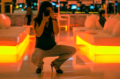 Postfire (Melissa Maples) Tags: camera woman selfportrait reflection me yellow night turkey 50mm hotel mirror nikon asia highheels photographer türkiye melissa antalya brunette nikkor maples afs 尼康 hillsidesu ニコン 50mmf18g f18g d5100 hotelsu