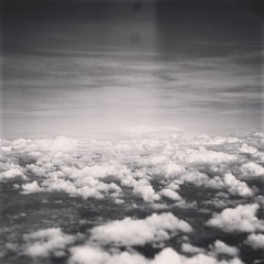 Float (k.johannajoyce) Tags: sky bw clouds plane airplane gray aerial grayscale vague plain