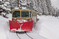 Train To Murren (webeagle12) Tags: railroad mountain snow mountains alps train switzerland europe swiss rail railway valley berne bernese narrowgauge berneseoberland oberland mannlichen murren nikond90 1685mm lauterbrunnenmurren