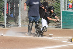 Oops, you forgot something. (MarkisMT) Tags: catcher youthsports goldrushlittleleague