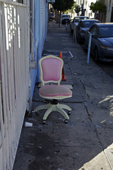 Pinkish (Generik11) Tags: sf cars abandoned architecture shadows chairs furniture unfoundinsf sfist gwsf