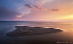 Viewpoint (Andrei Reinol) Tags: longexposure blue light sunset sea summer sky orange cloud sun seascape blur col