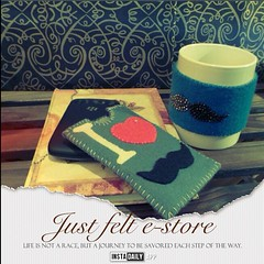 Mustache  (just felt) Tags: cute cup mobile bahrain cozy handmade felt case lovely mustache