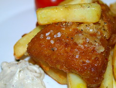 Fish and Chips (Tony Worrall Foto) Tags: uk food fish english dinner tomato lunch fry nice dish image cook tasty plate eaten chips lancashire eat potato meal mayo taste cooked northern chipped grub unhealthy fishandchips iatethis foodie flavour batter foodpictures picturesoffood 2013tonyworrall fishandchipsimage