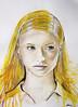 Yellow (Rawrson95) Tags: portrait people art painting model artists myart watercolour series flick tumblr artistsonflickr artofimages artistsontumblr