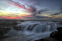 One Morning (pominoz) Tags: sea clouds sunrise newcastle waves nsw oceanbaths newcastleoceanbaths