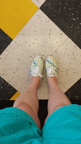 So cute. Love these Aztec print Keds.