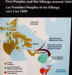 First Peoples and the Vikings, around 1000 A.D. (Will S.) Tags: mypics ottawa ontario canada canadianwarmuseum map maps
