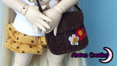 Brown flowers bag (Arwen) Tags: bag handmade bolso hechoamano yosd chlore pullp littlefee arwencreations