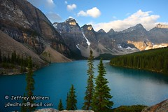 Moraine Lake (mdheightshiker) Tags: canada mountains ab alberta banffnationalpark morainelake canadianrockies valleyoftenpeaks